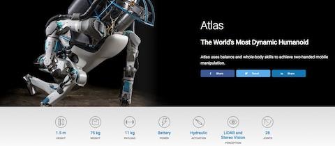 米ボストン・ダイナミクスの二足歩行ロボット「Atlas」