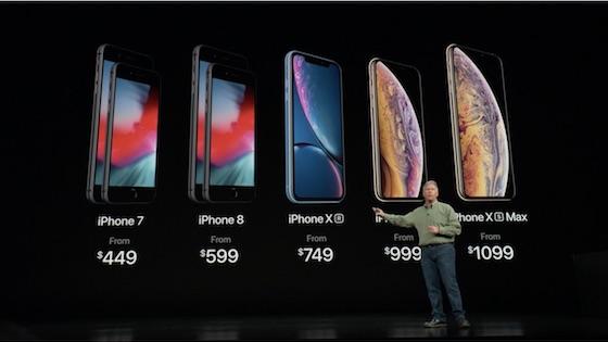 アップルでは旧型のiPhone7やiPhone8を値下げ
