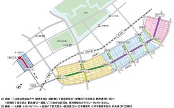 メダリストによる「合同パレード」のパレードルートマップ