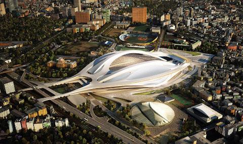 建築家ザハ・ハディドさんがデザインした「新国立競技場」