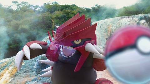 ポケモンGOにてホウエン地方の伝説のポケモン「グラードン」が2018年1月15日までの期間限定で登場