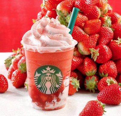 スターバックスコーヒーはイチゴのフラペチーノ「#STRAWBERRYVERYMUCHFRAPPUCCINO」を4月12日より販売